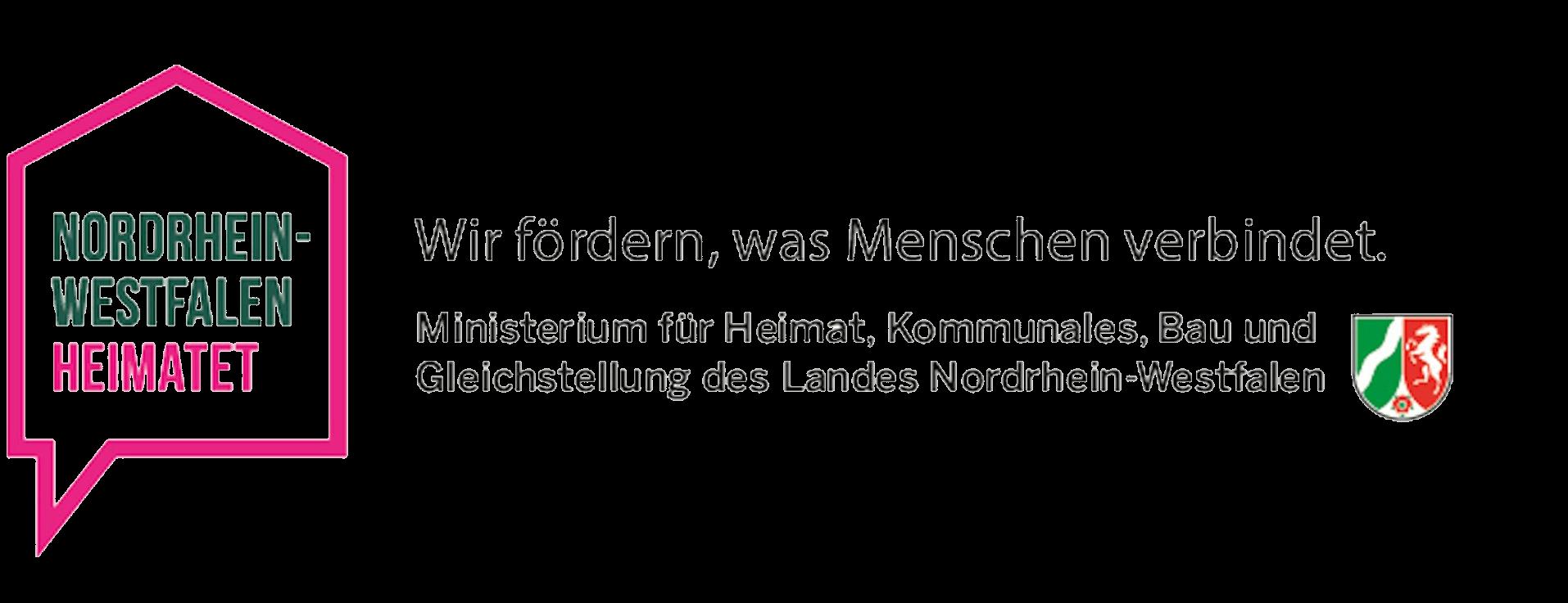 Logo Ministerium für Heimat, Kommunales, Bau und Gleichstellung des Landes Nordrhein-Westfalen
